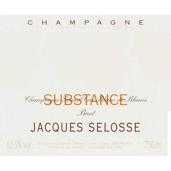 Champagne Brut Substance, Champagne Jacques Selosse